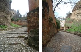 caminho para alhambra