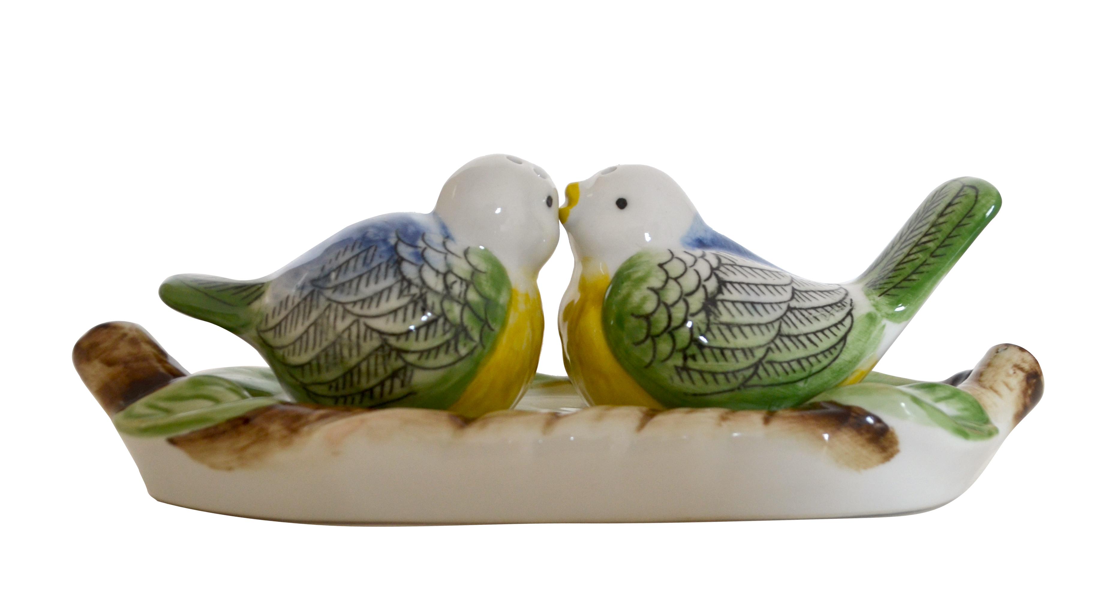 saleiro e pimenteiro passarinho